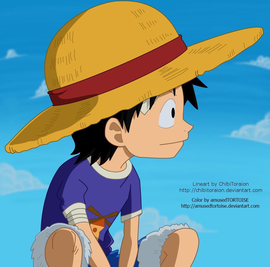 Kid Luffy by amusedTORTOISE