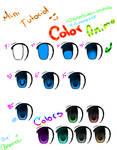 .+Mini Tutorial color Anime Eyes+.