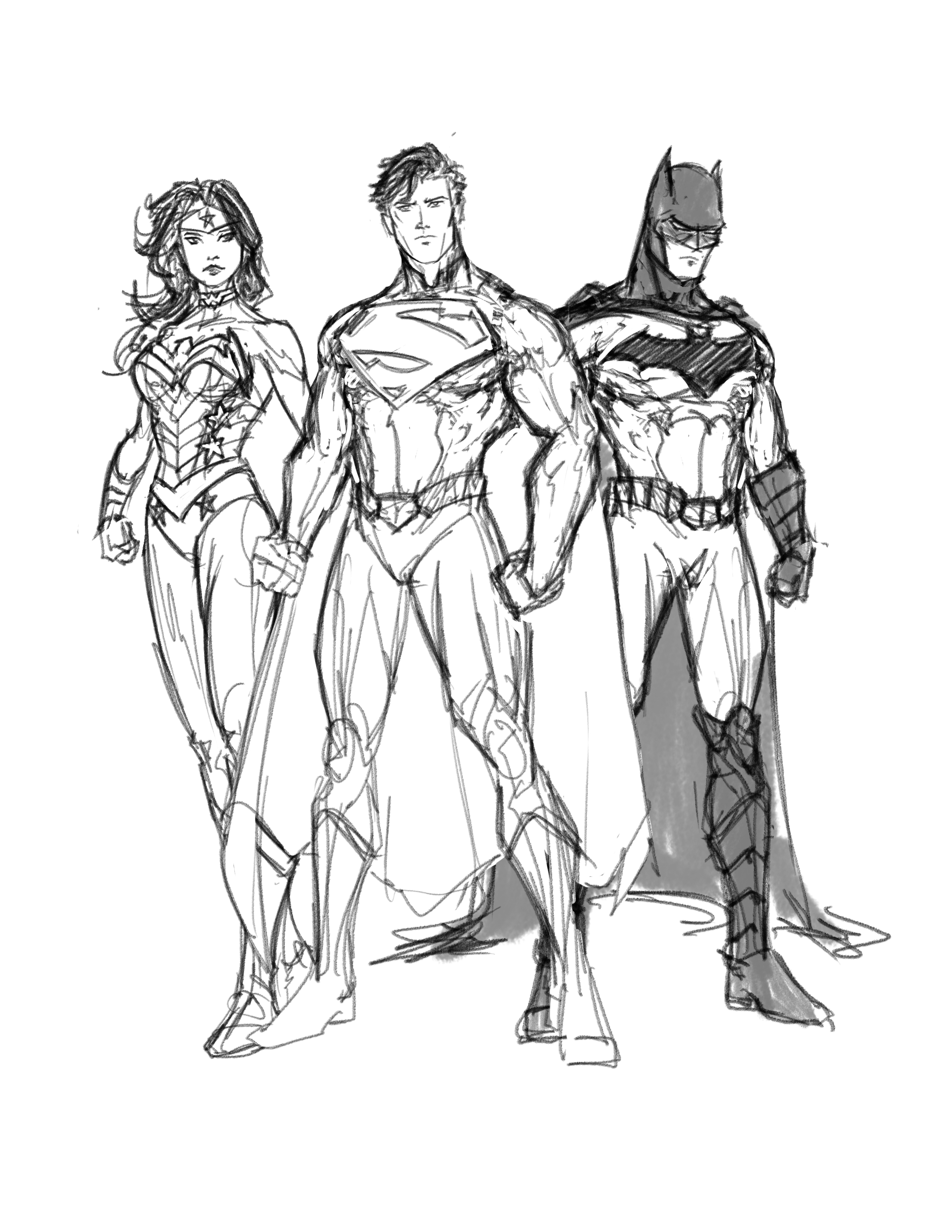 Justice League In Progress By Randomality85 On Deviantart Stunning Superman Coloring Book