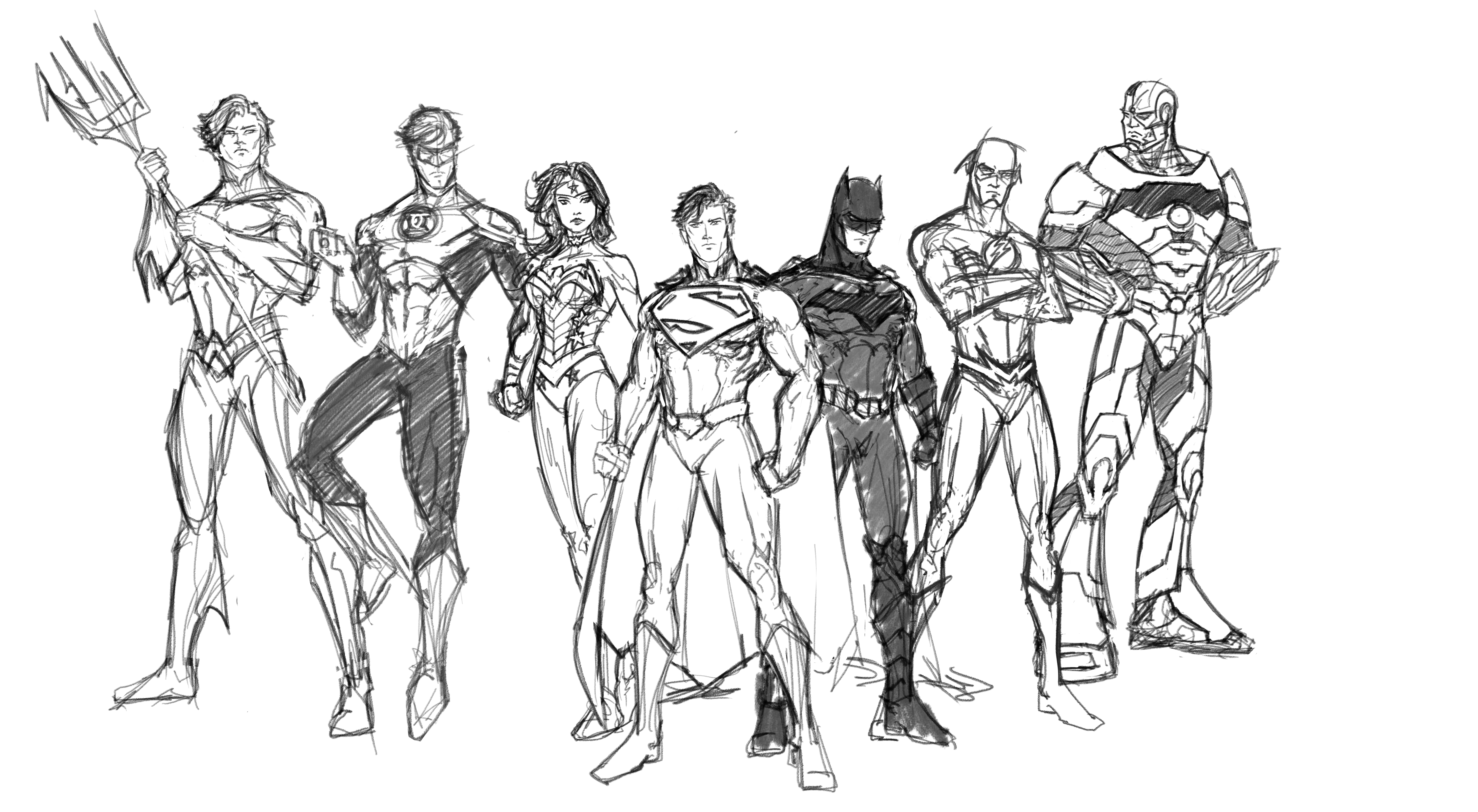 Justice League in Progress (New 52 Super Seven) by