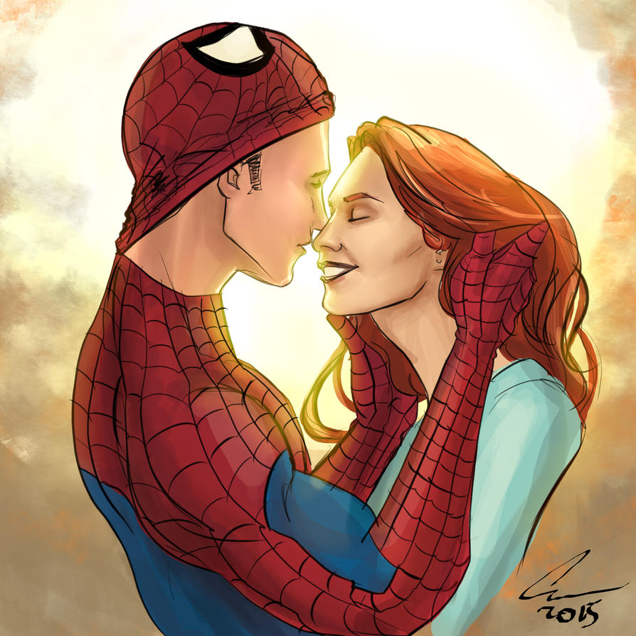 Spider-Man and Mary Jane by randomality85