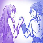 SasuHina-Holding Hands