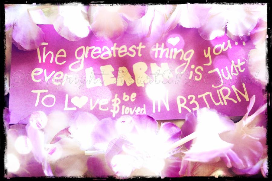 GREATEST THINGS by HeartANGELfied