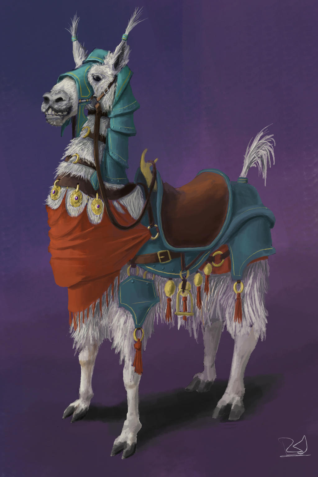 how to put armor on a llama