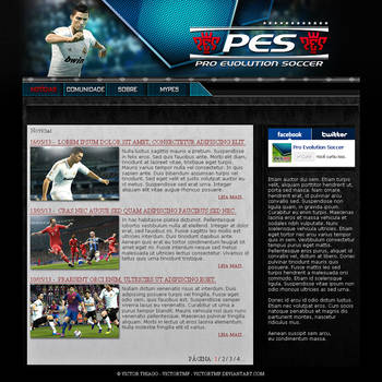 Pro Evolution Soccer Fan-Page by victortmf