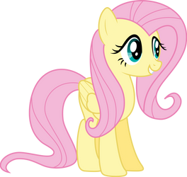 Cheerful Fluttershy by zziccardi