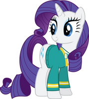 Rarity, of the Ponytones by zziccardi