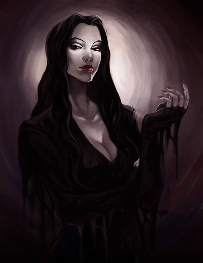 Morticia by juhaihai on DeviantArt