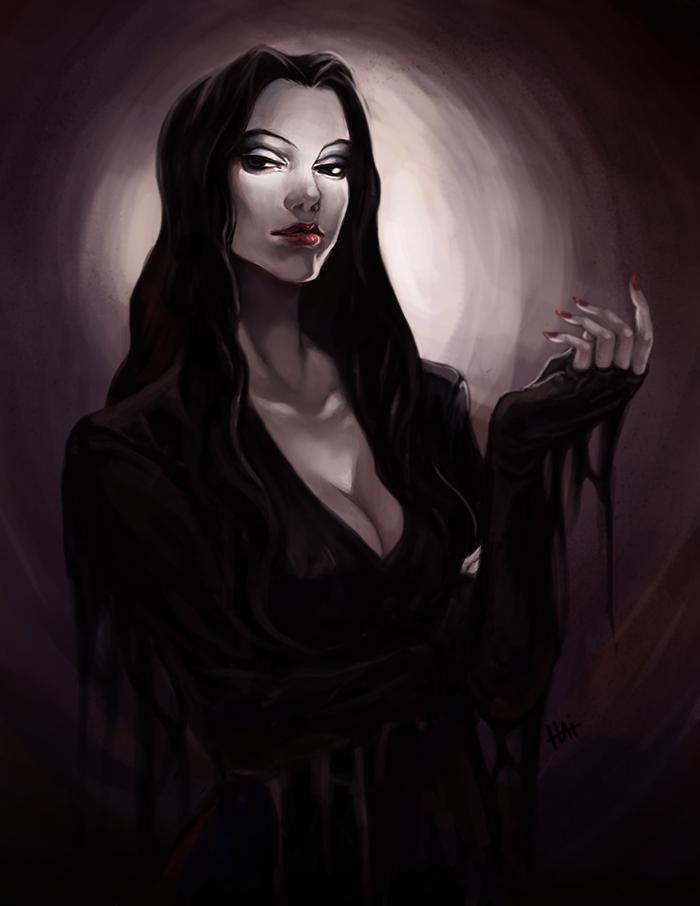 Morticia by juhaihai on DeviantArt