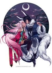Commission : Mikazuki and Xiu