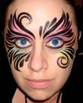 Eyes of a tribal rainbow
