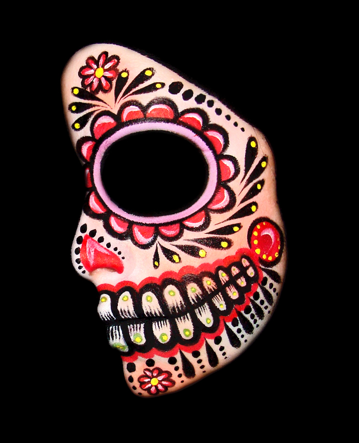 Sugar skull face to paint by thepinupgirl