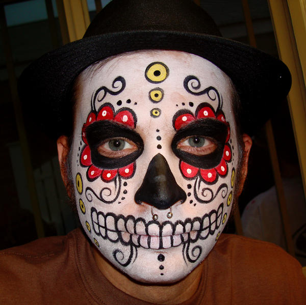 Simple Day Of The Dead Makeup Men