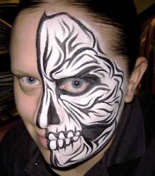 Tribal Skull by thepinupgirl