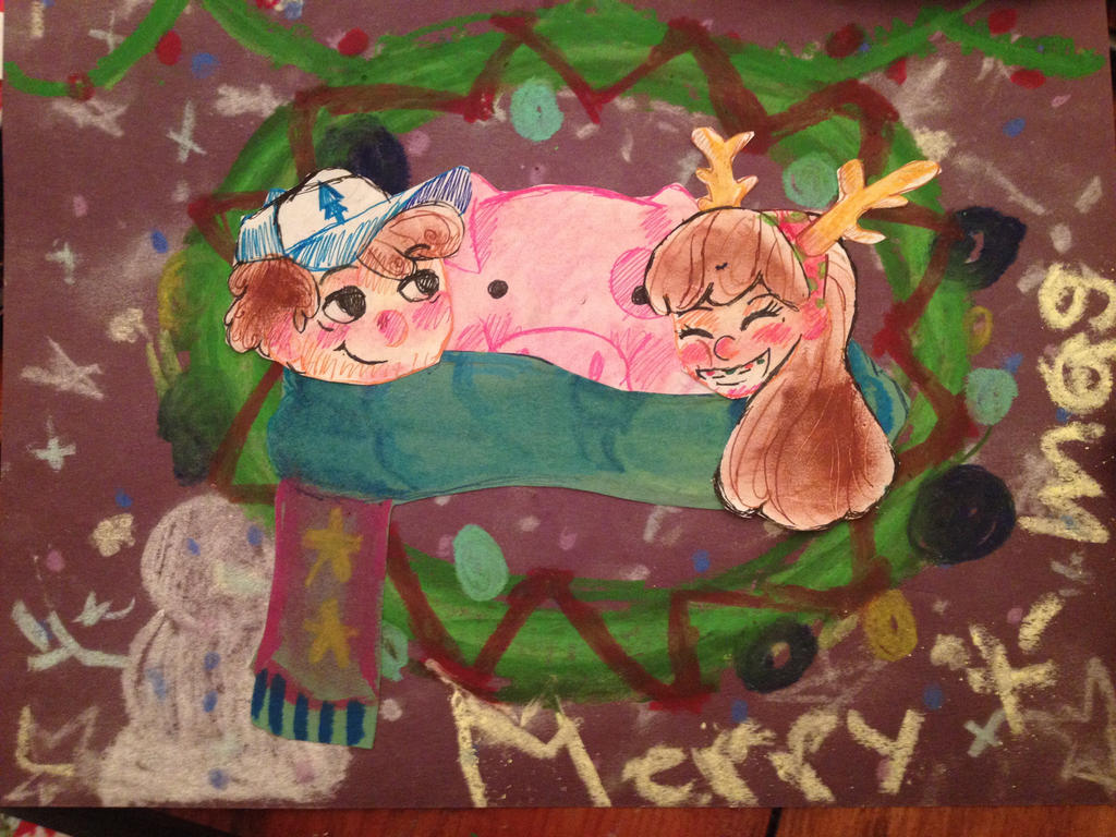 Merry Christmas Mabel and Dipper by hiabove