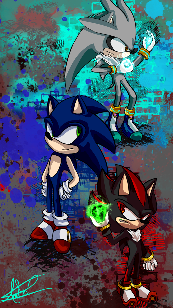 Sonic Shadow n' Silver by JustASonicFan