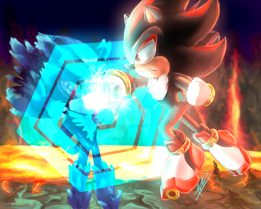 Shadow vs Mephiles - Sonic 06 by JustASonicFan