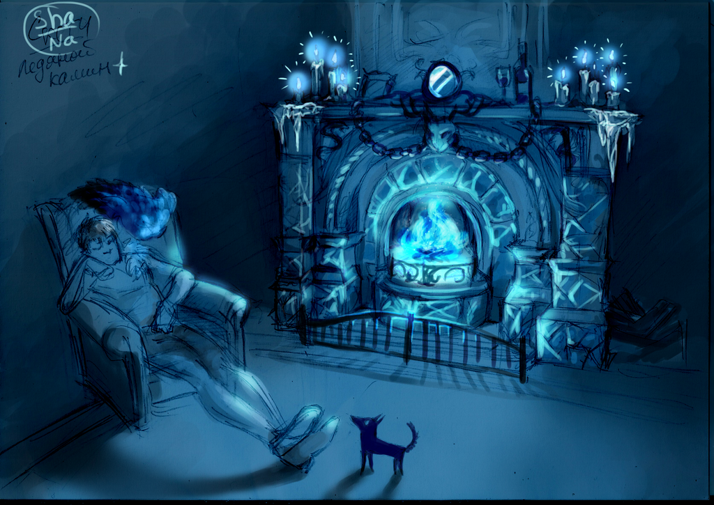 N3.Ice fireplace by WhiteFox-N
