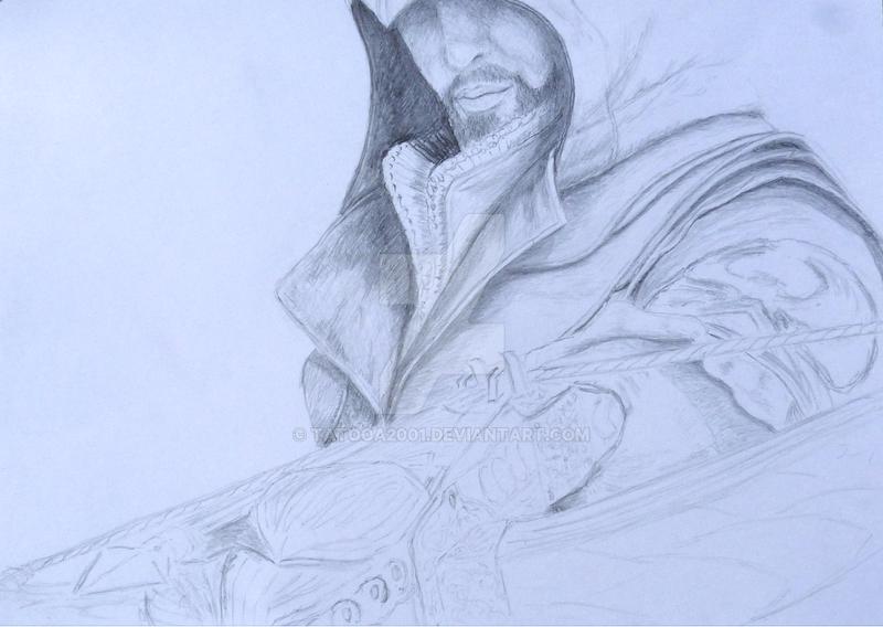 Assassin's Creed II Fan art Sketch Wip by Tatooa2001