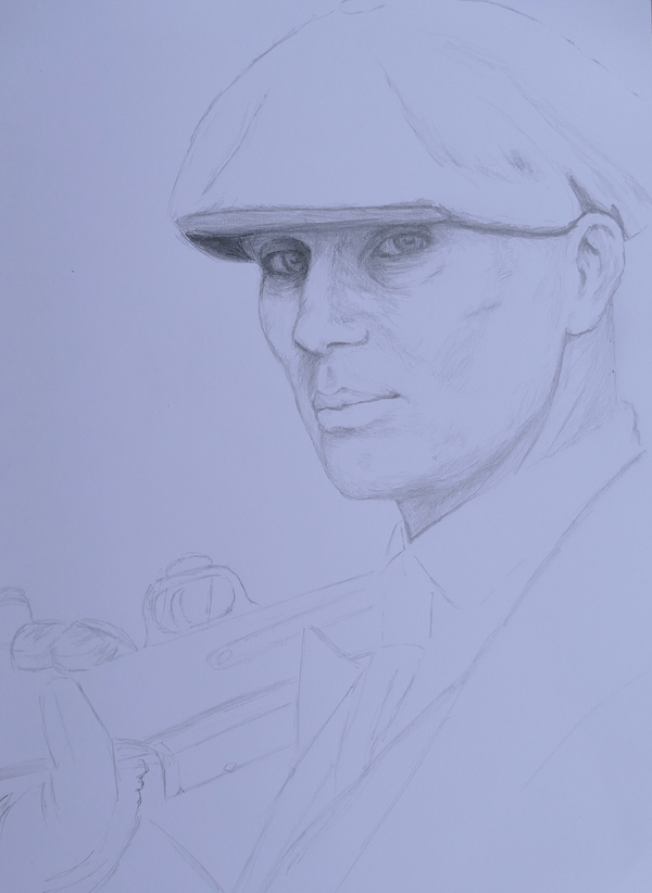 Peaky Blinders, Thomas Shelby sketch, 2 hours. by Tatooa2001