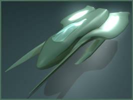 Green Spaceship by aquifer