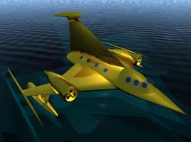 Flying Over Ocean by aquifer