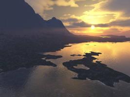 Coastal Sunset by aquifer