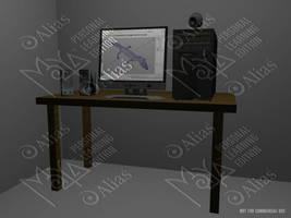 Night Desktop by aquifer