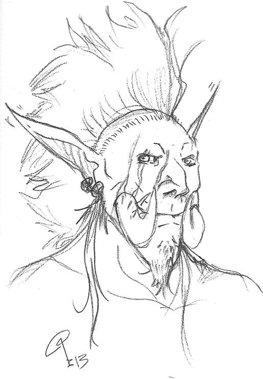 Tzallah sketch by Lommels