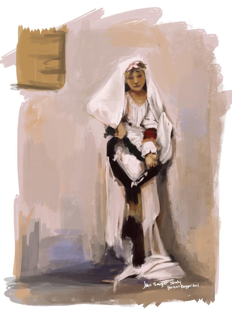 Parisian Beggar Girl by SundayMilk