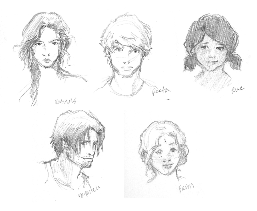 Hunger Games Character Sketches By Kaseyu On DeviantArt