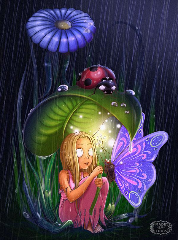 Leaf in the Rain by madebyloop
