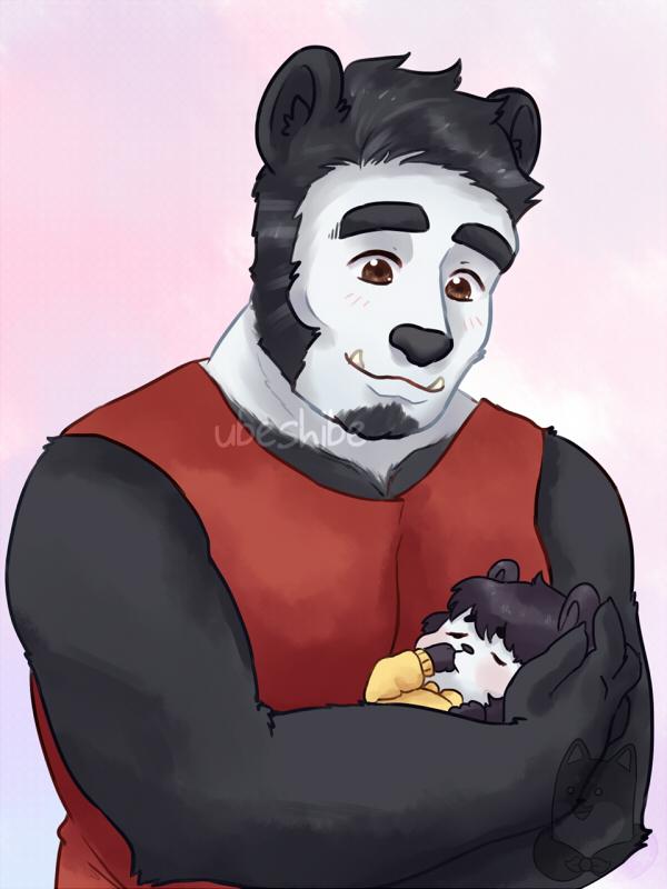 Panda dad by ubeshibe