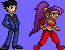Phoenix Wright and Shantae by CellularSP