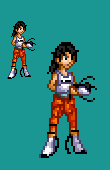 Chell Sprite by CellularSP