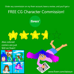 FREE Character Commission on Fiverr with purchase by SuperTailsHero