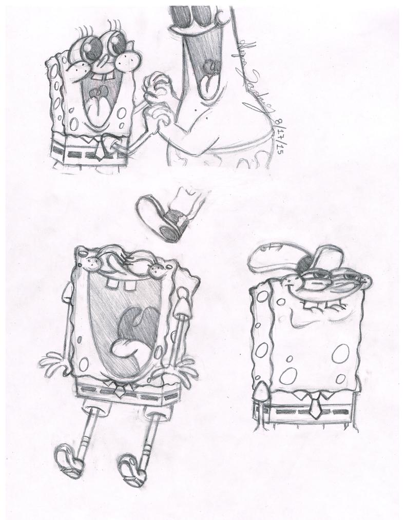 Uncategorized Sketch Of Spongebob spongebob sketches by awesomeaartvark on deviantart awesomeaartvark