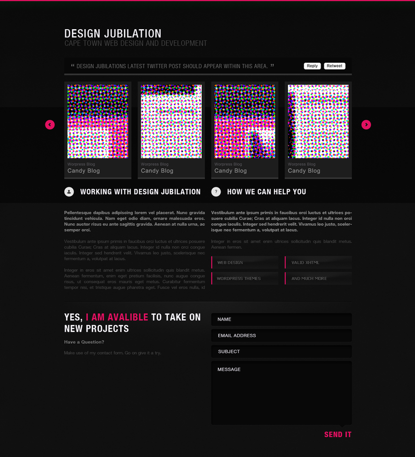 Design Jubilation Portfolio by slowduck