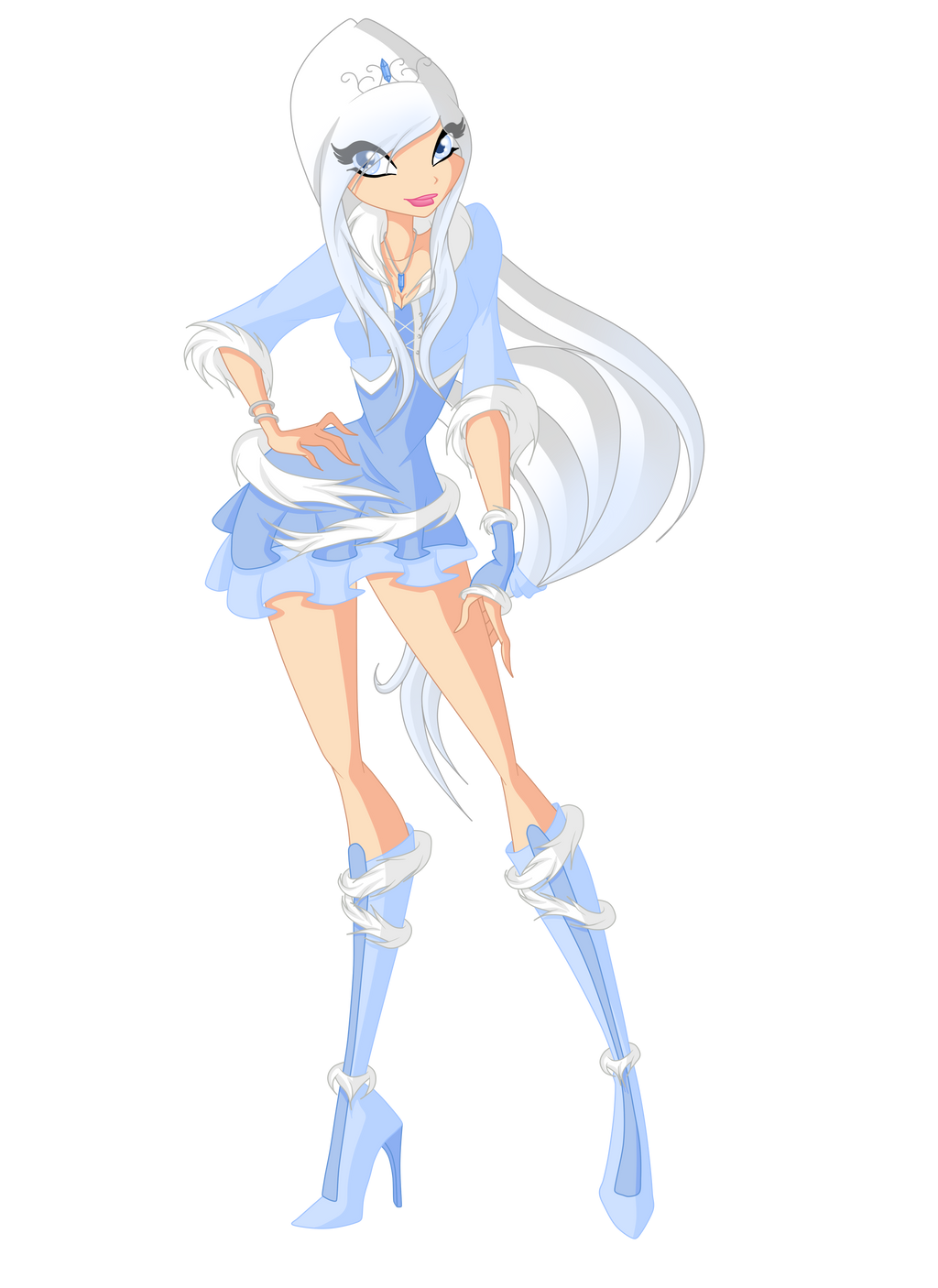 New Winx Oc: Yuki Frost (Season 1) by xXDiamondStarXx
