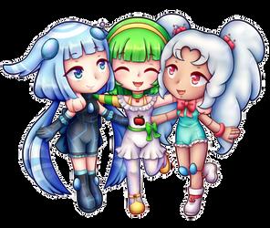 Trio Chibi Pomme Ruby Niio 01
