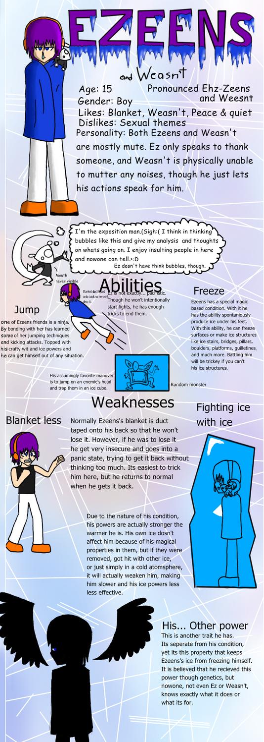 Ezeens Reference sheet by AndYetNoBananas