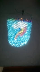 Rainbow Dash Chainmaille Dicebag V2