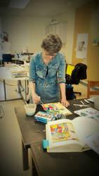 She's Always Working by xLoup-Garou
