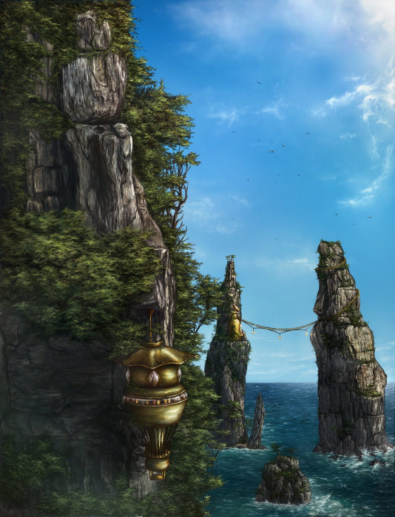 Cliff nest by Ekira-Txonite