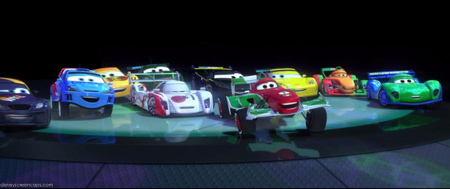 Neon Racer Cars