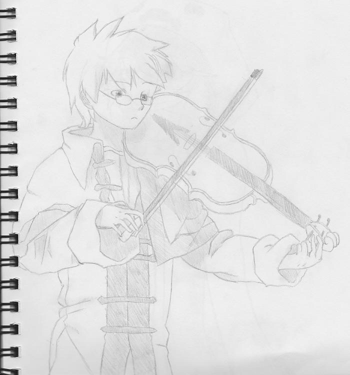 Boy playing Violin by TheWatchWearer on DeviantArt