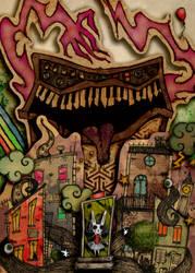 Bunny poster art by dustyportrait