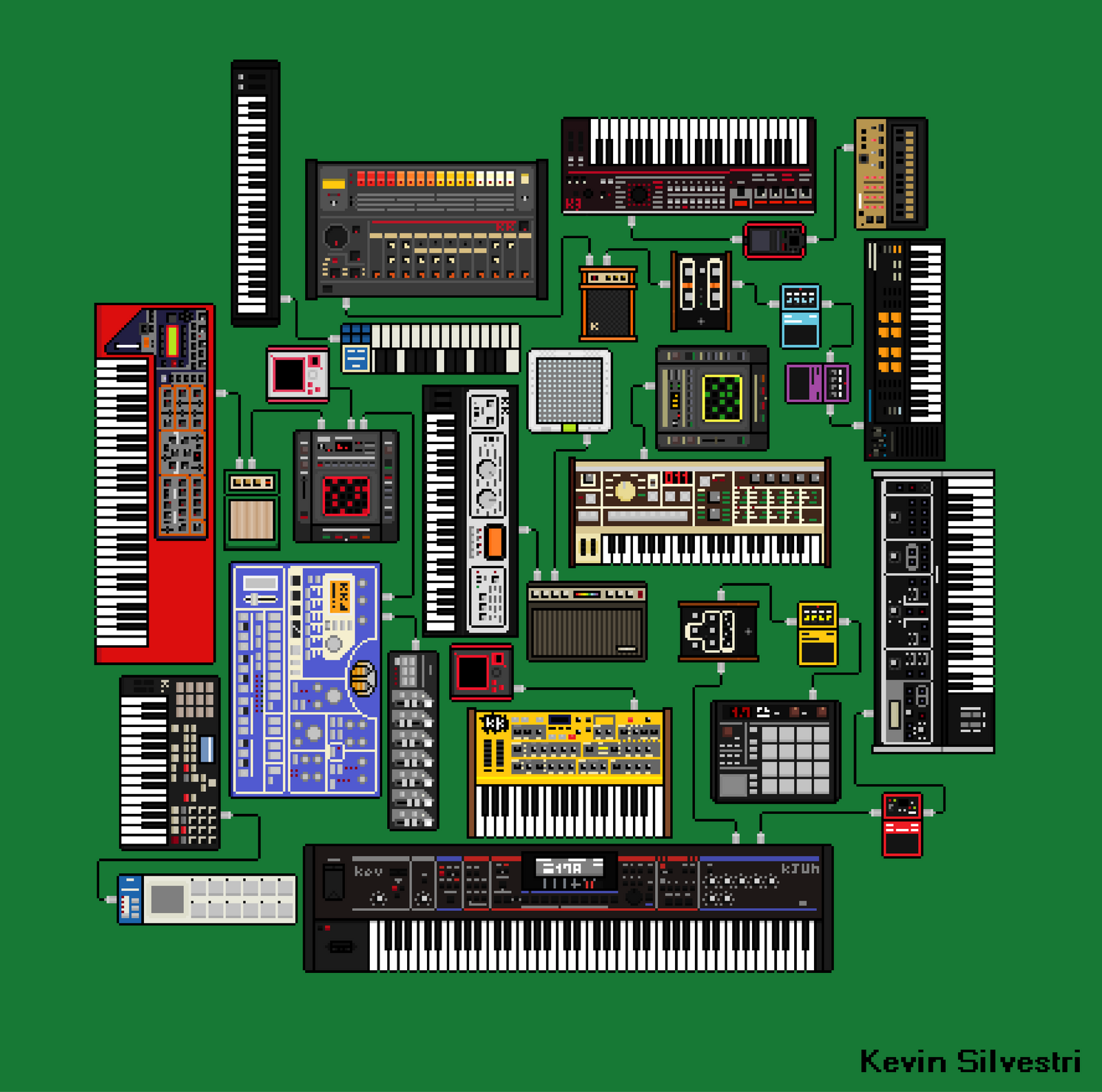 PIXEL SYNTHESIZERS set 1 by dustyportrait