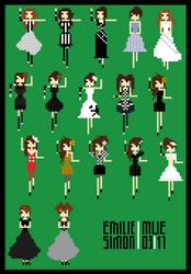 Emilie Simon Pixel Poster by dustyportrait