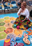 Settler of Catan Playing Mammoth Boardgame